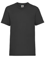 Fruit of the Loom Valueweight T-Shirt Kinder Black 152