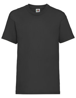 Fruit of the Loom Valueweight T-Shirt Kinder Black 164