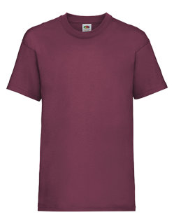 Fruit of the Loom Valueweight T-Shirt Kinder Burgundy 164