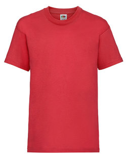 Fruit of the Loom Valueweight T-Shirt Kinder Red 140