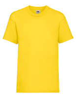 Fruit of the Loom Valueweight T-Shirt Kinder Yellow 128