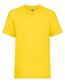 Fruit of the Loom Valueweight T-Shirt Kinder Yellow 164