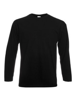 Fruit of the Loom Valueweight langarm T-Shirt Black M