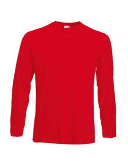 Fruit of the Loom Valueweight langarm T-Shirt Red M