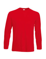 Fruit of the Loom Valueweight langarm T-Shirt Red XXL