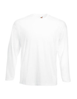 Fruit of the Loom Valueweight langarm T-Shirt White L