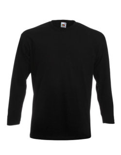 Fruit of the Loom Super Premium langarm T-Shirt Black S