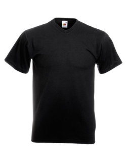 Fruit of the Loom Valueweight V-Neck T-Shirt Black XL