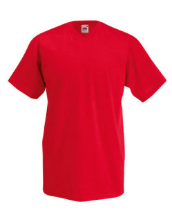 Fruit of the Loom Valueweight V-Neck T-Shirt Red XL