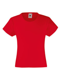 Fruit of the Loom Valueweight T-Shirt Mädchen Red 128
