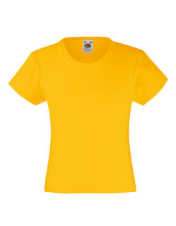 Fruit of the Loom Valueweight T-Shirt Mädchen Sunflower 140