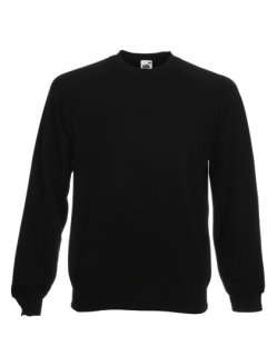 Fruit of the Loom Classic Raglan Sweat Black L