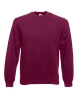 Fruit of the Loom Classic Raglan Sweat Burgundy XL