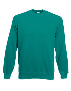 Fruit of the Loom Classic Raglan Sweat Emerald L