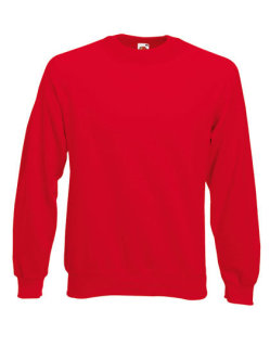 Fruit of the Loom Classic Raglan Sweat Red L