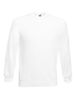 Fruit of the Loom Classic Raglan Sweat White XL