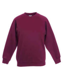 Fruit of the Loom Premium Raglan Sweat Kinder Burgundy 128