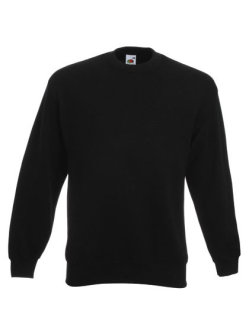 Fruit of the Loom Classic Set-in Sweat Black S