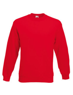 Fruit of the Loom Classic Set-in Sweat Red S