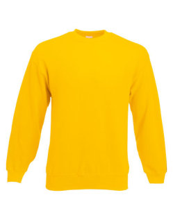 Fruit of the Loom Classic Set-in Sweat Sunflower XL