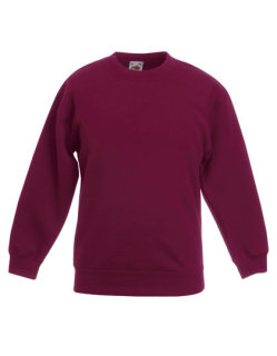 Fruit of the Loom Premium Set-In Sweat Kinder Burgundy 128