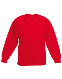 Fruit of the Loom Premium Set-In Sweat Kinder Red 164