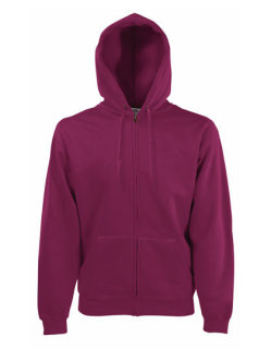 Fruit of the Loom Premium Kapuzensweat-Jacke Burgundy S