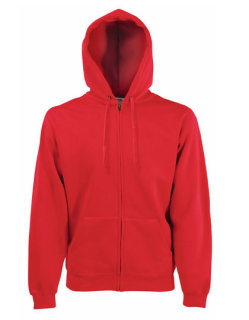 Fruit of the Loom Premium Kapuzensweat-Jacke Red XL