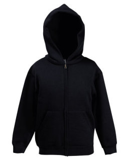 Fruit of the Loom Premium Kapuzensweatjacke Kinder Black 116