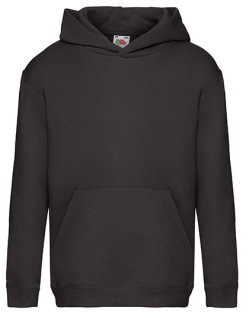 Fruit of the Loom Premium Kapuzensweat Kinder Black 164