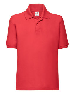 Fruit of the Loom 65/35 Polo Kinder Red 128