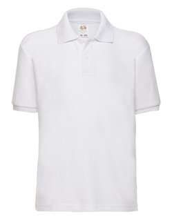 Fruit of the Loom 65/35 Polo Kinder White 116