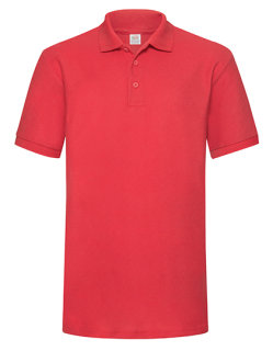 Fruit of the Loom 65/35 Heavy Piqué Polo Red L