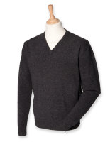 Henbury Lambswool V-Neck Pullover