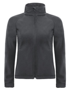 B&C Softshell Frauen Kapuzenjacke Dark Grey (Solid) XL