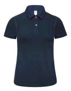 B&C Polo Jeanskragen Forward Frauen Denim/Navy XS