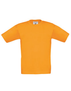B&C T-Shirt Exact 190 Kinder Orange 3/4 (98/104)