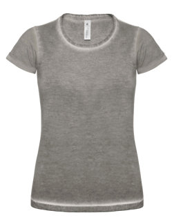 B&C Frauen T-Shirt Jeansoptik Plug In Grey Clash L