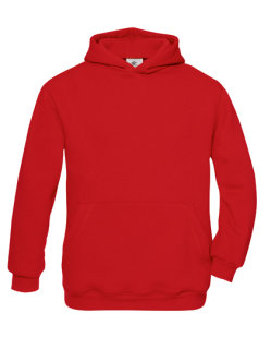 B&C Kapuzensweat Kinder Red 3/4 (98/104)