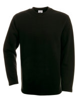 B&C Open Hem Sweat Black XL