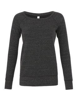 Bella Frauen Sponge Fleece Wide Neck Sweatshirt Charcoal-Black Triblend (Heather) XL