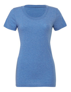 Bella Triblend Crew Neck Frauen T-Shirt Blue Triblend (Heather) S