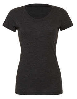 Bella Triblend Crew Neck T-Shirt Woman Charcoal-Black Triblend (Heather) XL
