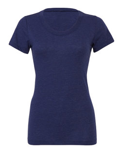 Bella Triblend Crew Neck T-Shirt Woman Navy Triblend (Heather) S