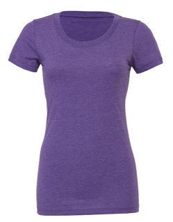 Bella Triblend Crew Neck T-Shirt Woman Purple Triblend (Heather) XL