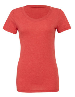 Bella Triblend Crew Neck T-Shirt Woman Red Triblend (Heather) M