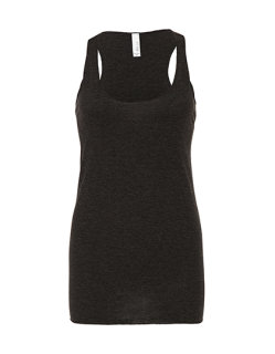 Bella Triblend Racerback Tank Top Charcoal-Black Triblend (Heather) M