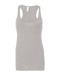 Bella Triblend Racerback Tank Top Grey Triblend (Heather) XL