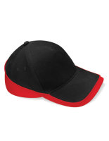 Beechfield Teamwear Competition Cap Black/Classic Red One...