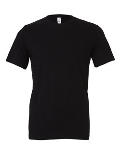 Canvas Unisex Jersey Crew Neck T-Shirt Black L